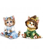 2 Cat 5D Diamond Painting Kits Drill Rhinestone DIY Art Craft Home Decor 2 Pack