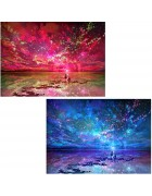 2 Pack 5D DIY Diamond Painting by Number Kits Night Sky
