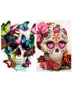 2 Pack 5d Diamond Painting Kits for Adults Kids Skulls Full Drill Diamond for Home Wall Decor