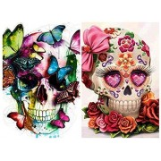 2 Pack 5d Diamond Painting Kits for Adults Kids Skulls Full Drill Diamond for Home Wall Decor..