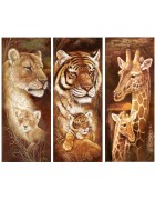 3 pack Animal Diamond Embroidery 5D DIY Diamond Painting Christmas Tiger and Giraffe Cross Stitch Full Rhinestone Mosaic