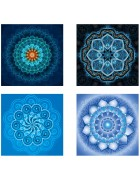 4 Pack 5D DIY Diamond Painting Set Decorating Cabinet Table Stickers Full Drill Rhinestone Diamond Embroidery Paintings Pictures Mandala Flower Painting