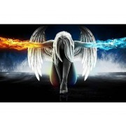 5D DIY Diamond Painting Angel and Wings Mosaic Cross Stitch Full Round Drill 5D Diamond Painting kit..