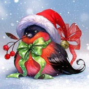 5D DIY Diamond Painting Christmas Bird Mosaic Cross Stitch Full Round Drill 5D Diamond Painting kit ..