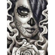 5D DIY Diamond Painting Day of the dead Sugar Skull Girl Mosaic Cross Stitch Full Round Drill 5D Dia..