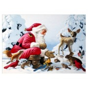 5D DIY Diamond Painting Kit Full Round Drill Cross Stitch Santa and Friends  Rhinestones painting..