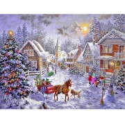 5D DIY Diamond Painting by Number Kits Christmas hut..
