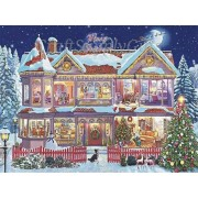 5D DIY Diamond painting Christmas Party House Mosaic Cross Stitch Full Round Drill 5D Diamond Painti..
