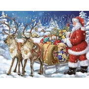 5D DIY Diamond painting Christmas Santa Claus Sleigh Mosaic Cross Stitch Full round Drill 5D Diamond..