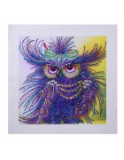 5d Artist Painting Kit Diy Cross Stitch Kit Great Designs Living Room Wall Decor Home Dance Owl 11.81x11.81 Inch