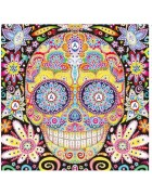 5d Artist Painting Kit Diy Cross Stitch Kit Great Designs Living Room Wall Decor Home Decor Flower Skull 11.81x11.81 Inch