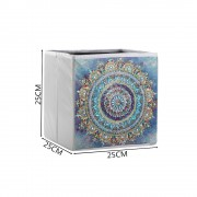 5d Diy Diamond Folder Box Different Shape Diamond Drawing Colorful Mandala Flower 9.84x9.84x9.84 Inc..