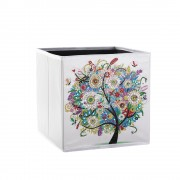 5d Diy Diamond Folder Box Different Shape Diamond Drawing Tree Summer 9.84x9.84x9.84 Inch