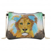 Cheap DIY Diamond Handbag Diamond Corssbody Bag Women Bag Lion..