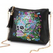 Cheap DIY Diamond Purse Tassel Purse Diamond Shoulder Purse Ladies Purse Black Skull Flower..