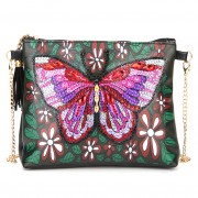 Cheap DIY Diamond Tassel Bag Diamond Shoulder Bag Ladies Purese Pink Butterfly..