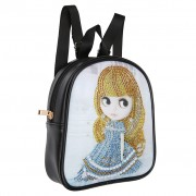 Cheap DIY Special Shaped Diamond Painting Backpack Leather Clutch Chain Shoulder Bag Cute Girl..