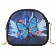Cheap Diamond Purse For Girls DIY Mini Diamond Purse Women Bag Shoulder Bag Blue Butterfly