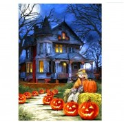 DIY 5D Diamond Painting Kit Partial Round Drill Halloween House Embroidery Paintings Home Decor..
