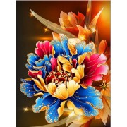 DIY 5D Diamond Painting Kit Partial Round Drill Rainbow Flower Decoration Embroidery Paintings Home ..
