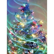 Decorated Christmas Tree Decorations Diamond Painting Kit Full Drill Round Drills..