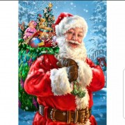 Diamond Painting Kit Full Round Drill Santa Claus Home Decor..