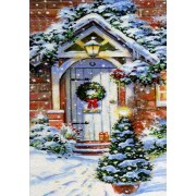 Diamond Painting Kit White Door Christmas 5D DIY Rhinestone Full Drill Diamond mosaic embroidery on ..