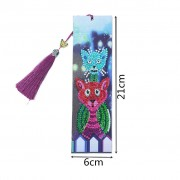 Diy 5d Diamond Painting Bookmarks Kits Diamond Painting With Tassel Cross Stitch For Book Gift Cats ..