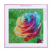 Diy 5d Diamond Painting Full Drill Crystal Rhinestone Embroidery Home Wall Decor Gift Colorful Rose 9.84x9.84 Inch