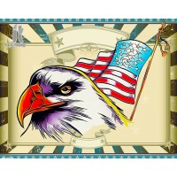 Diy Diamond Embroidery American Eagle Head Flag Diamond Painting Rhinestone Painting Cross Stitch Needlework Home Decoration