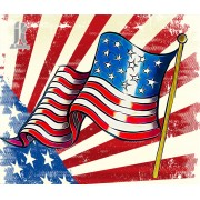 Diy Diamond Embroidery American Flag Diamond Painting Rhinestone Painting Cross Stitch Needlework Ho..