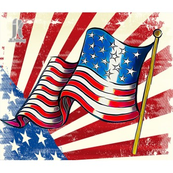 Diy Diamond Embroidery American Flag Diamond Painting Rhinestone Painting Cross Stitch Needlework Home Decoration