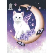 Diy Diamond Embroidery Angel Cat Diamond Painting Rhinestone Painting Cross Stitch Needlework Home D..