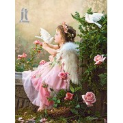Diy Diamond Embroidery Angel Kiss Diamond Painting Rhinestone Painting Cross Stitch Needlework Home ..