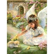Diy Diamond Embroidery Angel and Cat Diamond Painting Rhinestone Painting Cross Stitch Needlework Ho..