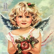 Diy Diamond Embroidery Angel with Fruit Diamond Painting Rhinestone Painting Cross Stitch Needlework..