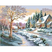 Diy Diamond Embroidery Beautiful Winter Landscape Diamond Painting Rhinestone Painting Cross Stitch ..