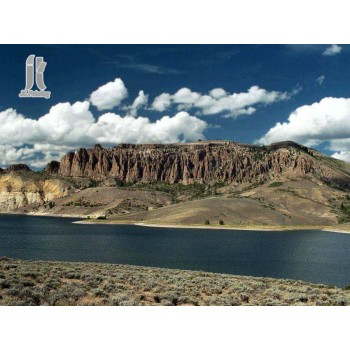 Diy Diamond Embroidery Blue Mesa Reservoir Diamond Painting Rhinestone Painting Cross Stitch Needlework Home Decoration