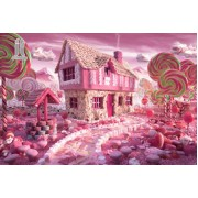 Diy Diamond Embroidery Cartoon Candy House Diamond Painting Rhinestone Painting Cross Stitch Needlew..