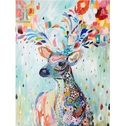 Diy Diamond Embroidery Cartoon Deer Diamond Painting Rhinestone Painting Cross Stitch Needlework Hom..