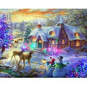 Diy Diamond Embroidery Christmas Deer Diamond Painting Rhinestone Painting Cross Stitch Needlework H..