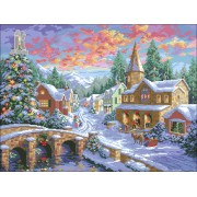 Diy Diamond Embroidery Christmas Eve Diamond Painting Rhinestone Painting Cross Stitch Needlework Ho..