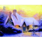 Diy Diamond Embroidery Christmas Snow House Diamond Painting Rhinestone Painting Cross Stitch Needle..
