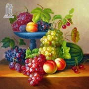 Diy Diamond Embroidery Colorful Fruit Diamond Painting Rhinestone Painting Cross Stitch Needlework H..