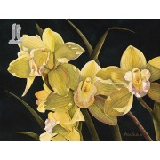 Diy Diamond Embroidery Cymbidium Orchid Diamond Painting Rhinestone Painting Cross Stitch Needlework..