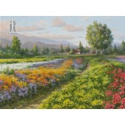Diy Diamond Embroidery Flower Farm Carmel Valley Diamond Painting Rhinestone Painting Cross Stitch N..