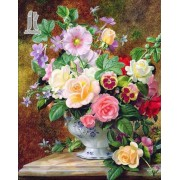 Diy Diamond Embroidery Flower Vase Diamond Painting Rhinestone Painting Cross Stitch Needlework Home Decoration