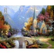 Diy Diamond Embroidery Forest House Diamond Painting Rhinestone Painting Cross Stitch Needlework Hom..