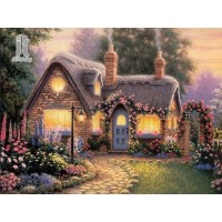 Diy Diamond Embroidery Garden Villa Diamond Painting Rhinestone Painting Cross Stitch Needlework Home Decoration