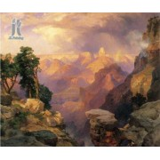 Diy Diamond Embroidery Grand Canyon with Rainbows by Thomas Moran Diamond Painting Rhinestone Painti..